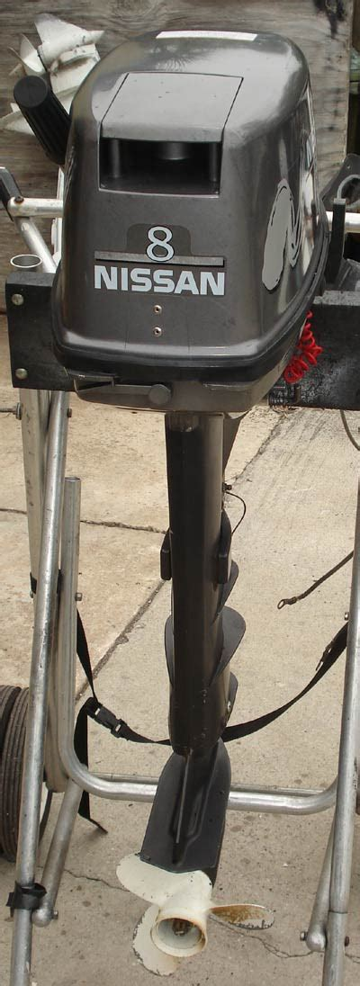 """Used Nissan 8 hp Outboard Motor Long Shaft 20 """""""