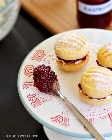 Melting Moments with Raspberries and Cream | Adapted from